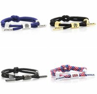 Wholesale New Styles Rastaclat Knot M Reflective Shoelace Bracelet Wristband Adjustable Ties CM Polyester One Size Fits Most