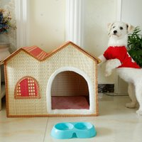 bamboo house - Do You Treasure Summer Bamboo Weaving Pets Nest Bamboo Weaving Kennel The Cat Litter House Pets Articles Dog Cage