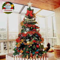 Wholesale 2016 New Luxury ft cm Artificial Indoor LED Lights Christmas Tree with Xmas Decorations