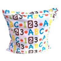 Wholesale OhBabyKa Diaper bag Cloth Diaper Backpack x30cm Reusable print zippered waterproof diapers dry bag Diaper Nappy Bag