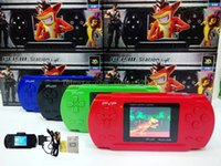 Wholesale Handheld Games Console Bit inch PVP LCD Screen Digital Pocket Game Console New PVP2 Portable Handheld game player with free Game Card