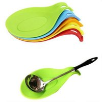 Wholesale Silicone Creative Heat Resistant Spoon Pads Insulation Mats Home Kitchen Table Decoration Placemat Glass Coaster Tools