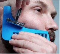 Wholesale Bro beard The Beard Shaper Facicl Hair Shaping Tool Beard Brush Hair Brush Comb for Men Gentleman Trim Template Hair Cutter Molding