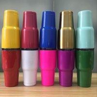 Wholesale DHL oz Rambler Tumbler Bilayer Insulation Cups Cars Beer Mug Large Capacity Mug Tumblerful In Stock