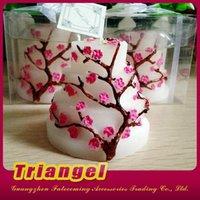 Velas de calidad superior de la flor del melocotón de los regalos del favor de la boda del envío libre para la decoración 20pcs / lot de la fiesta de Navidad del cumpleaños de la boda