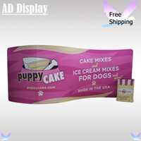 Wholesale ft S Shape Tradeshow Pop Up Booth Durable Tension Fabric One Side Printed Banner Advertising Wall With Square Table