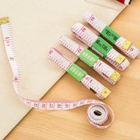 Wholesale hot sale measuring tools m inch length soft plastic tape measures tailor clothes measur rulers body measure tools