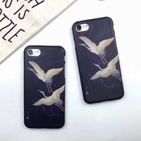 apple crane - Creative Fashion Red crowned Crane Beautiful Case For Iphone plus S High Quality Iphone Case All Inclusive Cases