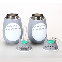 anime mugs - New Anime My neighbor Totoro Insulated Cup Cute Totoro Stereoscopic Stainless Steel Mug Students Thermos bottle Kids Gift