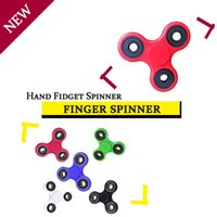 Wholesale Decompression HandSpinner Fingertips Spiral Fingers Fidget Spinner EDC Hand Spinner Acrylic Plastic Toys With Retail Box free DHL