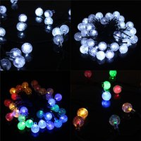 Wholesale LED Lights Solar Round Ball LED Shinning Lights String Romantic Wedding Party Home Decor Decoration LED with Solar Panel