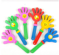 Wholesale Plastic Hand clapper clap toy cheer leading clap for Olympic game football game Noise Maker Baby Kid Pet Toy DHL Free