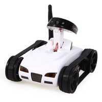 Wholesale 2016 RC Mini Tank Car Spy with Video MP Camera WiFi Remote Control By iphone Android Robot with Camera CH White Ss