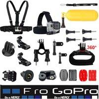 Plata hero4 gopro España-Kit común de deportes al aire libre básico para todos los héroes Gopro Hero4 negro plata 4 3+ 3 SJ4000 SJ5000 SJ6000 Xiaomi Yi Accesorios