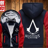 assasins creed clothing - Autumn Winter Assasins Creed Hoodie Sweatshirt Men Black Chadal Hombre Mens Hoody tracksuit men hoodies down jacket clothes