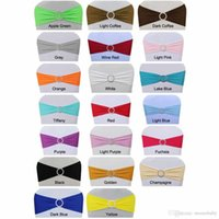 Wholesale 100pc spandex chair band with plastic buckle for wedding decoration lycra cover chair bands elastic chair band Z312