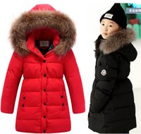 baby sue - 2016 High quality Children Baby Winter Coat Kids Jacket For girl Parka Warm suing Casual Windproof white duck down packing