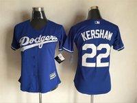 Wholesale 2016 New Womens Los Angeles Dodgers Clayton Kershaw Adrian Gonzalez Yasiel Puig Baseball Jerseys Free Drop Shipping