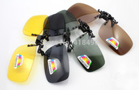Wholesale color polarized driving sunglasses clip up Day night vision flip up eyewear eye glass for men women care oculos