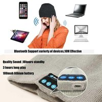battery hand warmers - Bluetooth music Beanie Hat soft warm Cap with Stereo wireless Headphones Microphone Hands Free and Rechargeable Battery for Mobile Phones