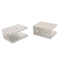 aluminium shelf brackets - 2pcs Aluminium Alloy Glass Clamp Fit mm mm Thickness Glass Rectangular Shape Glass Clip Shelf Support Bracket