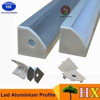 2m/pcs anodized aluminum shapes - 40m a m per piece Anodized aluminum profile for led strip light triangle shape