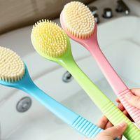 Wholesale Hot Sale cm Long Handle Plastic Flexible Bath Body Back Brush Shower Scrubber Exfoliator Assorted Colors Message Brush