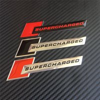 audi supercharged - Car Styling Universal Aluminum Supercharged Emblem Badge Decoration Sticker Decals For Audi Chevrolet Volkswagen