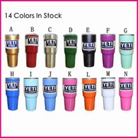 Wholesale 2016 YETI Tumbler Cup Rambler Cooler Stainless Steel oz Color Car Vehicle Beer Mugs Double Wall Bilayer Vacuum Insulated