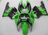 al por mayor carenados zx7r en venta-Kit caliente de la carenado de la motocicleta de la venta para el kit negro verde de la carenada de Kawasaki ZX7R 1996-2003 ZX7R Ninja ZX750 96-03 sistema de la carrocería