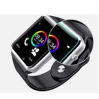 Wholesale A1 Smart Watch GT08 U8 DZ09 Smart Watches Smartwatch iWatch Support SIM TF Card Smart Wrist Watches With Silicone Strap Smartphone DHL