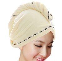Wholesale Thicken the bath cap Custom LOGO embroidery bath hand wash towels cm Soft Microfiber Bath Sheet Beach Towel Towels