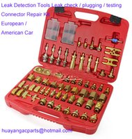 Wholesale fit European American Car Leak Detection Tools Leak check testing Connector Repair tools Kit auto air conditioning part