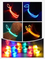 Wholesale Pure Color Pet Dog Cat Led Collar Night Light Up Flashing Saftey Lead Necklace Leash Adjustable XS S M L XL Various Colors