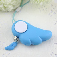 backpack alarm - Travel Kits Anti Rape Women Cute Angel Wing Self Defense Device Alarm Guardian Anti Theft Security Kit Backpack Key Ring Pendant