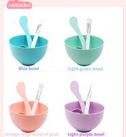 Wholesale 6 Pack Mask Dish Set diy Mask Tool Homemade Mask Stick Compact Mask Brush Meter Beauty F0011