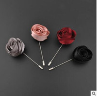 american needle - Suit the dress wedding brooches high grade fabric long needle Han edition dress color butyl cloth corsage by hand