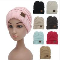 Wholesale Fedex DHL Free Baby Fashion Crochet Knitted CC Beanie Girls Autumn Casual Cap kids Warm Winter Hats children Casual Hat