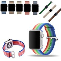 bags watch straps - iWatch Watch Band Nylon Weave Strap mm mm with Adapter Metal Clasp for Apple watch iwatch with OPP BAG