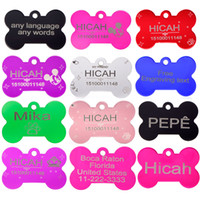 Wholesale 2pcs Personalized Pet ID Tag Customized Dog ID Tag Laser engraving dog Cat Tag Identification Free Engraved