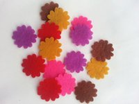 Wholesale Mini cm Non woven patches Felt Flower Shape Appliques for clothes DIY For Children Headband Hairband Accessories decoration flower