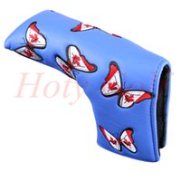 Wholesale golf equipment NEW Canada butterfly green blue golf Cover Golf Putter HeadCover club Cover pc