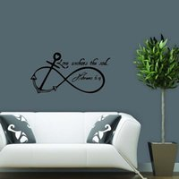anchor wall stickers - New Product For Love Anchors Soul Removable Wall Art Decal Quote Words Lettering Bedroom Sitting Room Decor Sticker Diy
