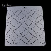 art quilt patterns - Piece DIY Coin Floral Pattern Acrylic Quilt Template Patchwork Tools Handmade Quilting Stencil Craft Sewing Tool Accessories