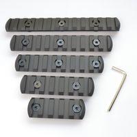 Wholesale 5 slot CNC Aluminum Picatiny Weaver Rail Section for Keymod handguard