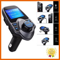 Wholesale Bluetooth Car Kit MP3 Player FM Transmitter Receiver Wireless Radio Adapter USB Charger with Retail Box