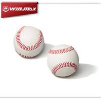 ball gloves - 2017 AAA Winmax Base Ball White Inch Hard Ball Baseball Practice Training Ball PC For Baseball pole baseball gloves collocation