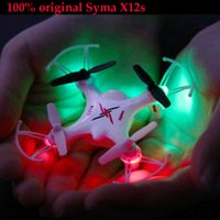 Wholesale SYMA X12S GHz CH Axis Gyro Remote Control Airplane Headless Nano Quadcopter Mini indoor RC Drone Toys for Children