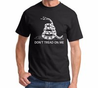 Men active green tea - Dont Tread on Me T shirt menGadsden flag Tea Party short sleeve printed tee S XL