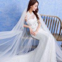 Wholesale Wedding dress bridal princess hanging neck was thin Slim tail tail wedding autumn and winter new waist